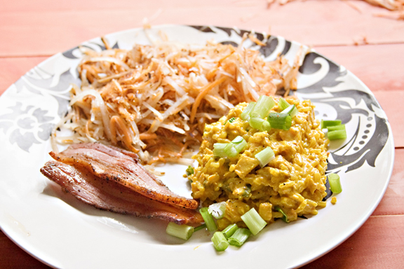 Kedgeree with Autumn Hash